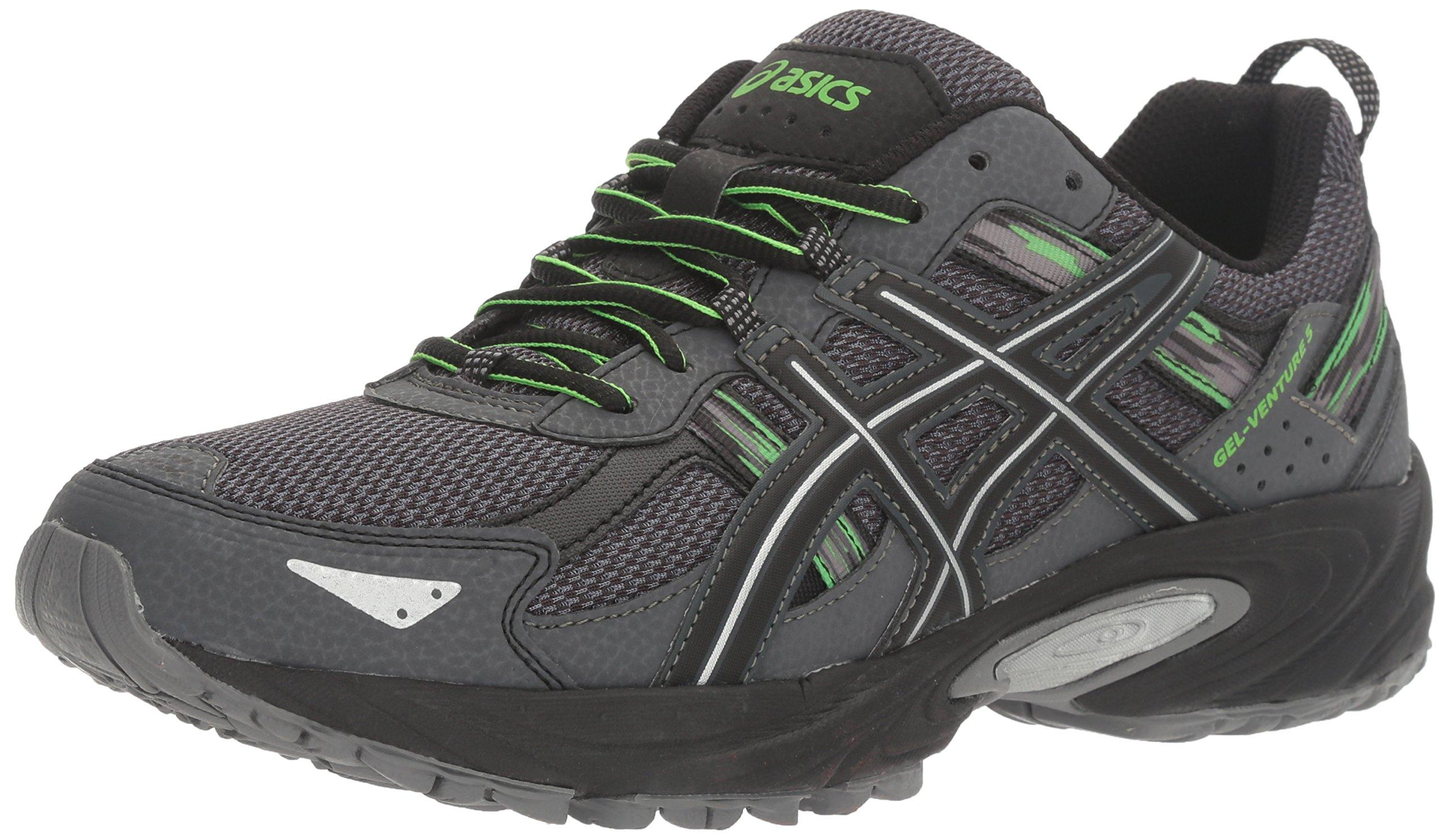 ASICS Men's Gel-Venture 5 Trail Runner, Carbon/Silver/Green Gecko, 8 M US by ASICS (Image #1)