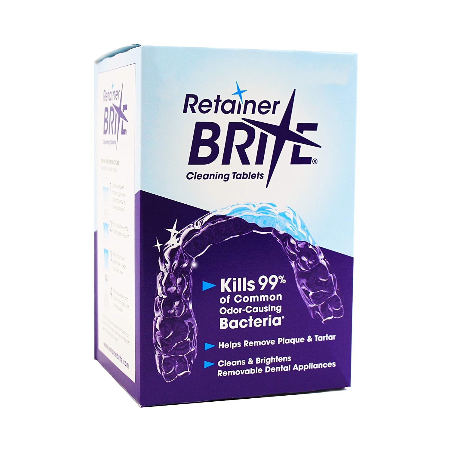 Retainer Brite Tablets for Cleaner Retainers and Dental Appliances - 96 Count : Beauty