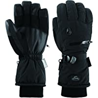 HighLoong Men Waterproof Thinsulate Ski Snowboard Gloves Winter Warm Gloves (Black)