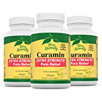 Terry Naturally Curamin Extra Strength (3 Pack) - 120 Vegan Tablets - Non-Addictive Pain Relief Supplement With Curcumin, Boswellia & DLPA - Non-GMO, Gluten-Free - 120 Total Servings