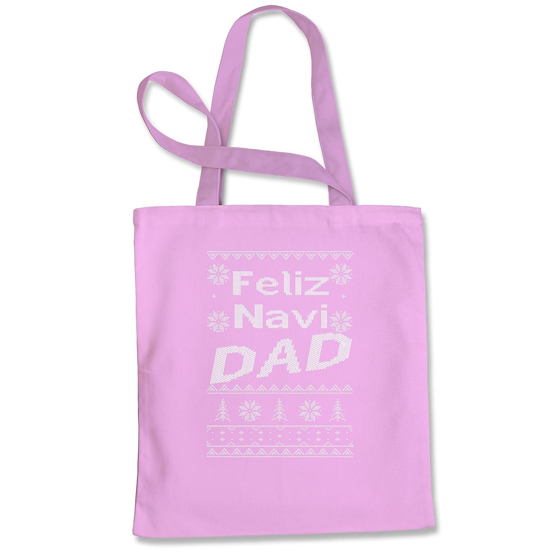 式Tees Feliz Navi Dad醜いクリスマスショッピングトートバッグ B0773V7DCS L|ピンク ピンク L