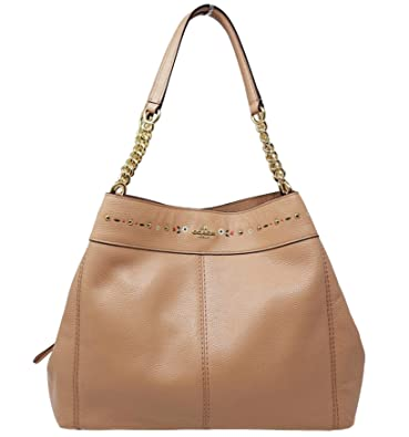 b7d19db24833 ... where to buy coach f25894 lexy chain shoulder bag floral tooling nude  pink pebble leather 1f5a5