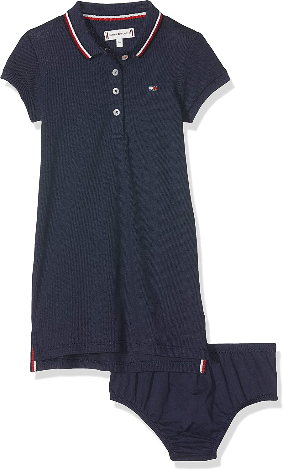 Tommy Hilfiger Essential Polo Dress S/s Vestido, Azul (Black Iris ...