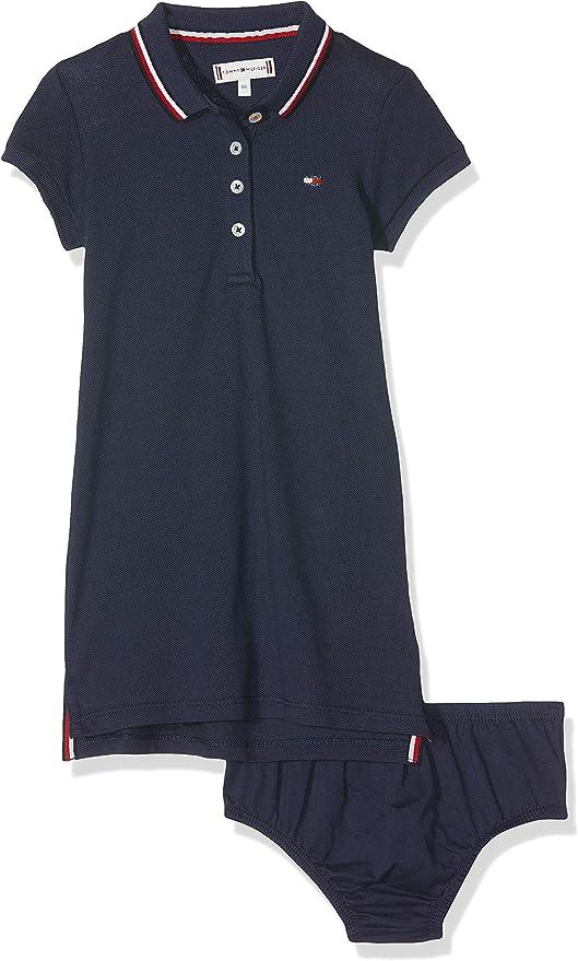 Tommy Hilfiger Essential Polo Dress S/s Vestido, Azul (Black Iris ...