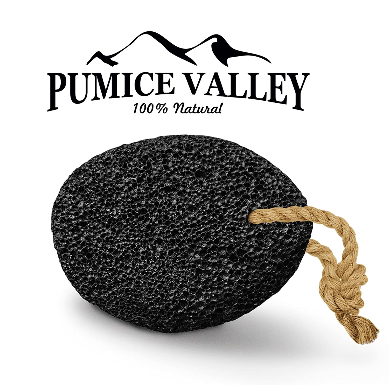 Pumice Stone - Natural Earth Lava Pumice Stone Black - Callus Remover for Feet Heels and Palm - Pedicure Exfoliation Tool - Corn Remover - Dry Dead Skin Scrubber - Health Foot Care Pumice Valley