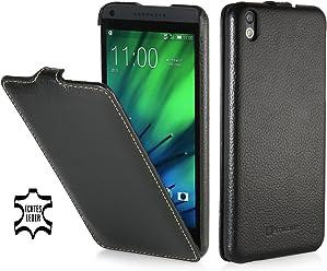 StilGut Housse UltraSlim en cuir pour HTC Desire 816, en noir