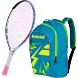 Babolat B'Fly Child's Tennis Racquet bundled with a Junior Tennis Backpack