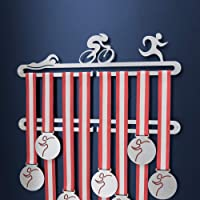 Medallero de triatlón suspensión doble pantalla