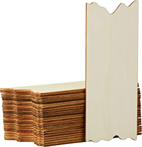 Unfinished Wood Plaque - 24-Pack Rectangle Wooden Plaque with Jagged Edge, Mini Board, Rustic Sign, Wood Slice, Decorative Door Sign, for Home Decor, Award Recognition, DIY Craft, 7 x 3 x 0.1 inches