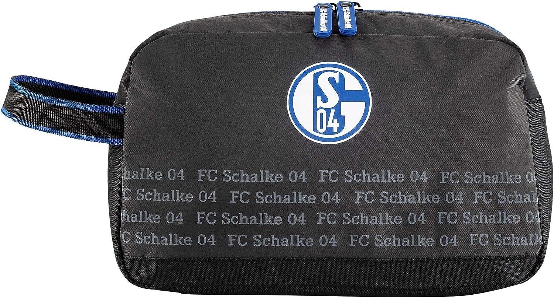 FC Schalke 04 Kulturbeutel Kulturtasche grau