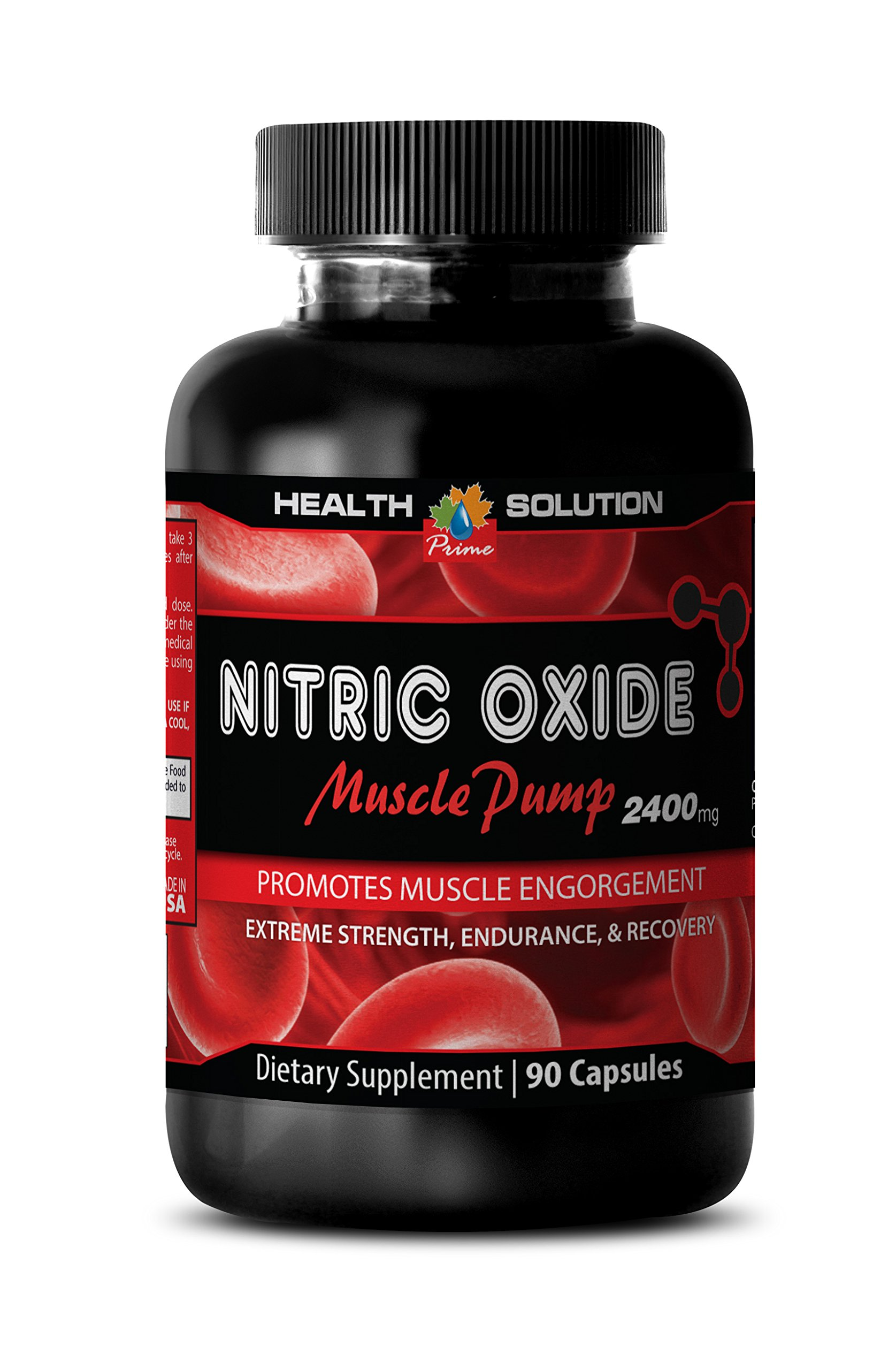 Nitric oxide pills - NITRIC OXIDE MUSCLE PUMP 2400MG - reduce exercise fatigue (1 Bottle) by Health Solution Prime