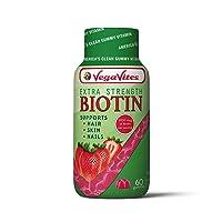 VegaVites Gummy Extra Strength BIOTIN – The Clean Vitamin! 5000 mcg – Vegan, Halal...