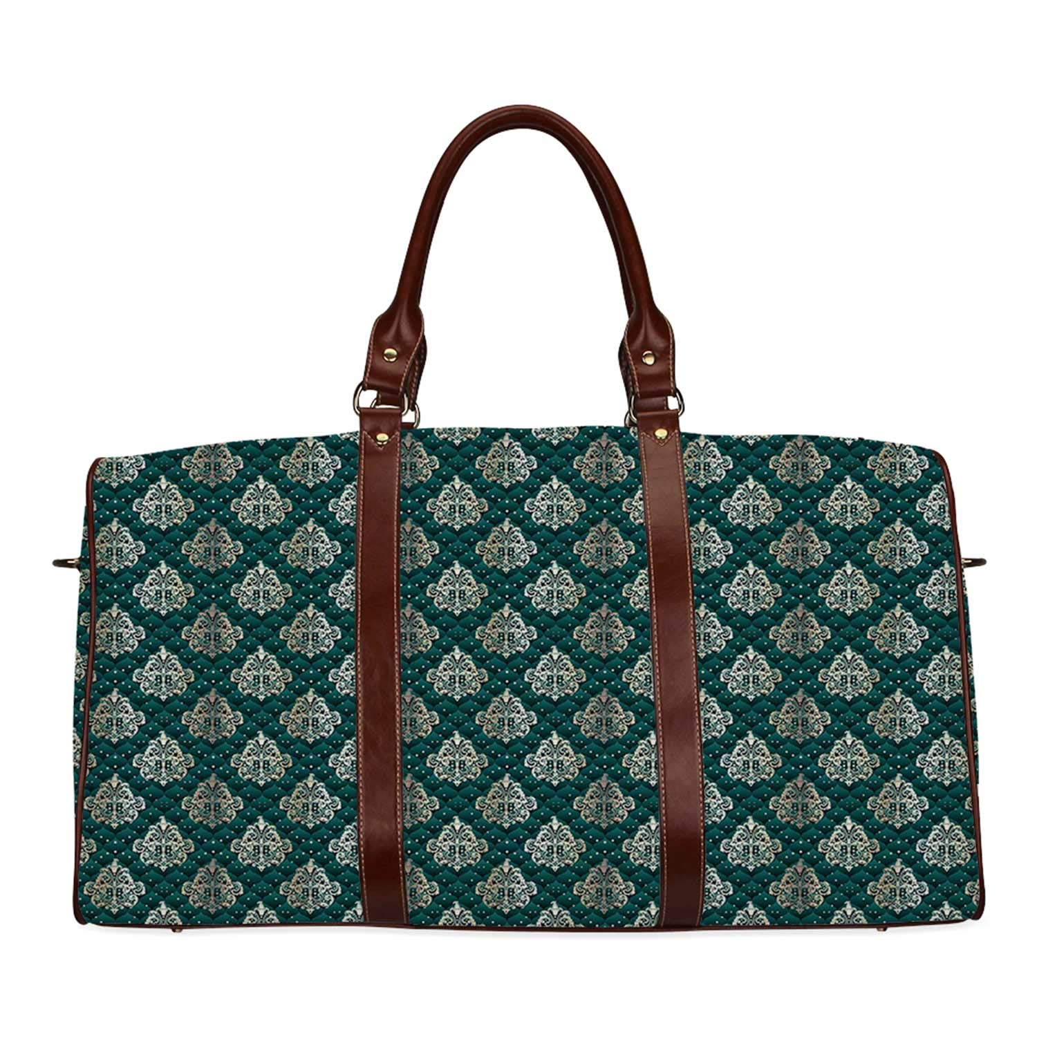 Damask Practicality Travel Bag,French Pattern Inspired by Rococo Era Designs Intricate Renaissance Motifs Decorative for School,20.8''L x 12''W x 9.8''H by YOLIYANA