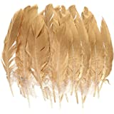 MagiDeal Pack of 24 Natural Goose Feather Millinery DIY Art Craft Party Home Decor 15-20CM