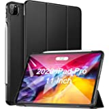 Ztotop Case for iPad Pro 11 2020 2nd Generation, Slim Lightweight Trifold Stand Smart Case, Auto Wake/Sleep PU Leather Hard Cover Support iPad Pencil Charging for iPad Pro 11 Inch 2020 2nd Gen, Black