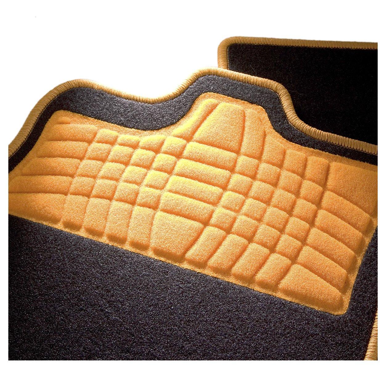 CarFashion 246926 Auto Alfombra Soporte sin Juego de alfombrillas para Matte plana Calypso-Textil Gris 4-Piezas