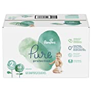 Diapers Size 2, 68 Count - Pampers Pure Disposable Baby Diapers, Hypoallergenic and Fragrance Free Protection, SUPER
