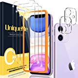 [2+3 Pack] UniqueMe Compatible for iPhone 11 6.1 inch Camera Lens Protector and Screen Protector Tempered Glass HD Clarity [P