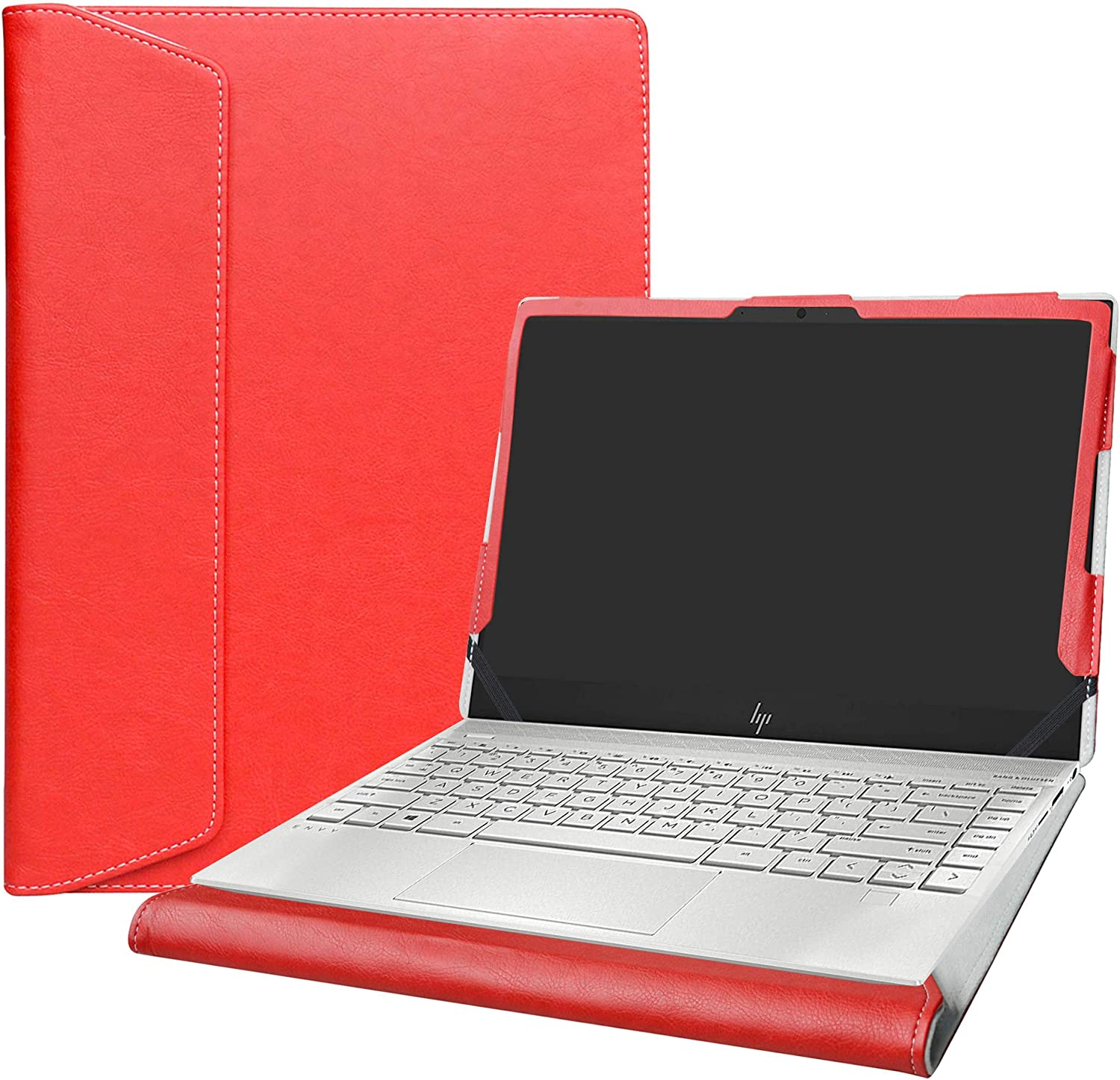 """Alapmk Protective Case Cover for 13.3"""" HP Envy 13 13-aqXXXX 13-AQ0005NR Series Laptop [Warning:Not fit Envy 13 13-ahXXXX 13-adXXX 13-abXXX Series],Red"""