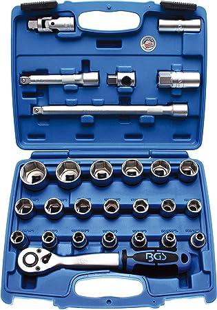 3 piezas   375 // 450 // 600 mm 3//8 Juego de extensiones BGS 2236 10 mm