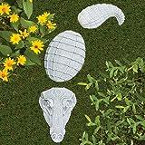 Bits and Pieces - Alligator Garden Stones, 3 pc - Garden Décor for Lawn, Patio or Yard - Durable Polyresin Garden Stones