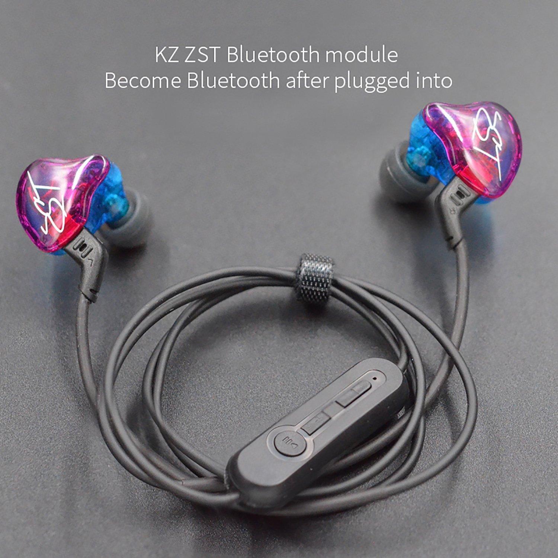 KZ Bluetooth Convertidor Cable de Audio Inalámbrico Desmontable para Auriculares KZ Compatible con modelos KZ ES3 /KZ ZST / KZ ED1.