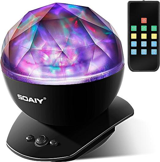 Amazon.com: SOAIY Proyector de luz LED suave, proyector de ...