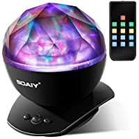 [Upgraded Version] SOAIY® Color Changing LED Night Light Lamp with Remote Timer Dimmer, Baby Nursery Kids Night Light,Aurora Star Projection Light,Decorative Light,Mood Light (Power Plug/AC Adapter Not Included)