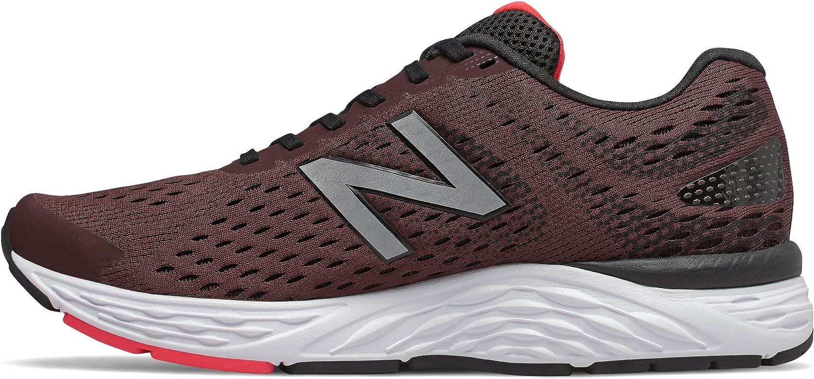 New Balance M680CH6 - Zapatillas de running (extra anchas, ancho 4E, color burdeo), color Rojo, talla 41.5 EU: Amazon.es: Zapatos y complementos