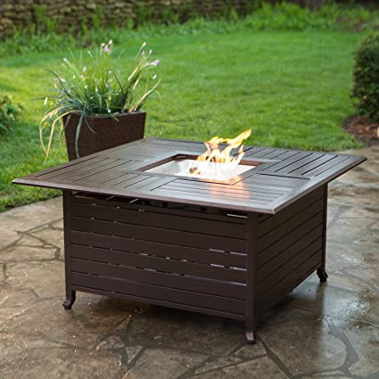 Amazon.com: Red Ember Longmont 45 In. Square Propane Fire Pit Table: Garden  U0026 Outdoor