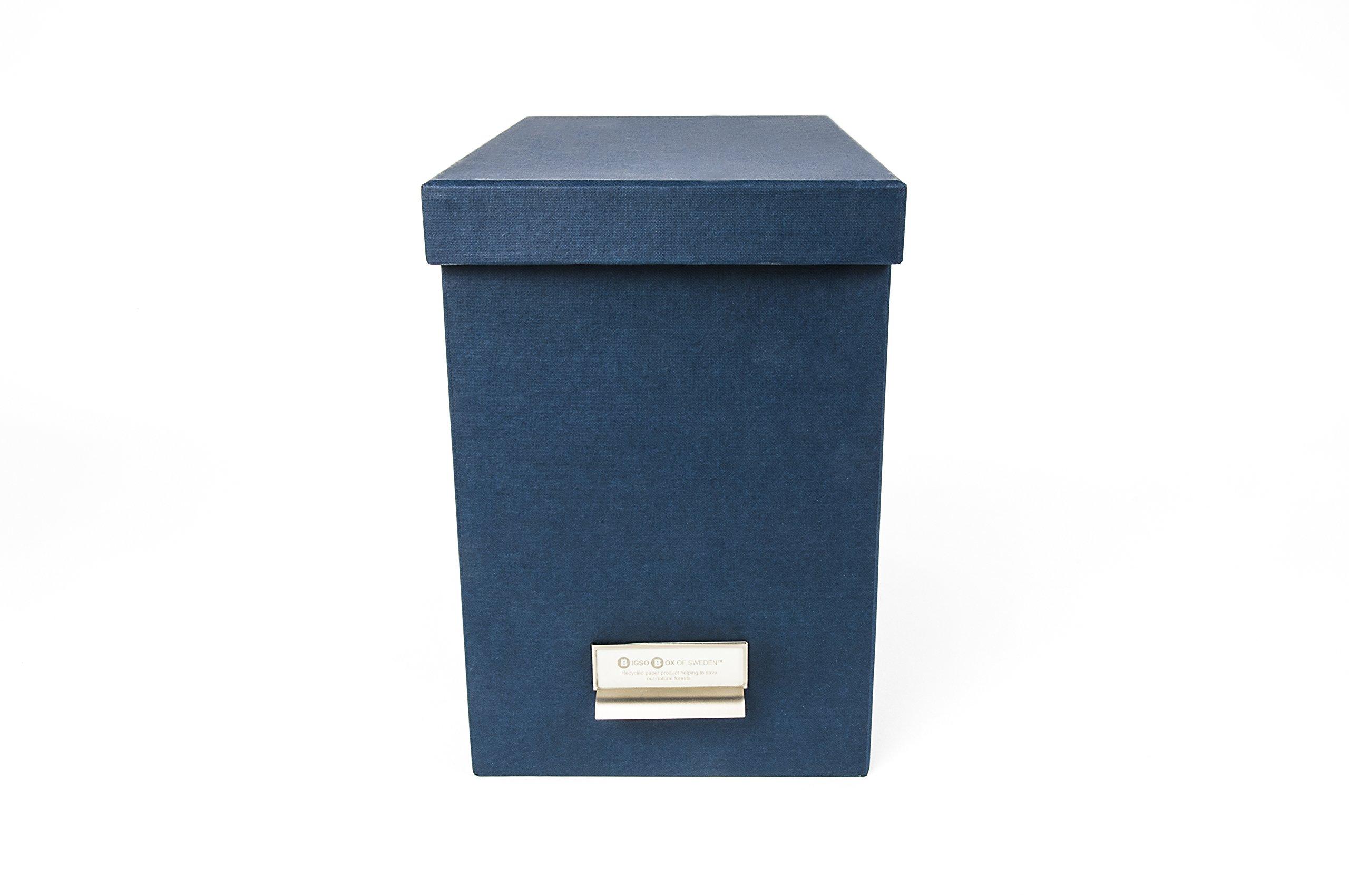 Bigso 954156944 John Desktop File Storage Box, Blue