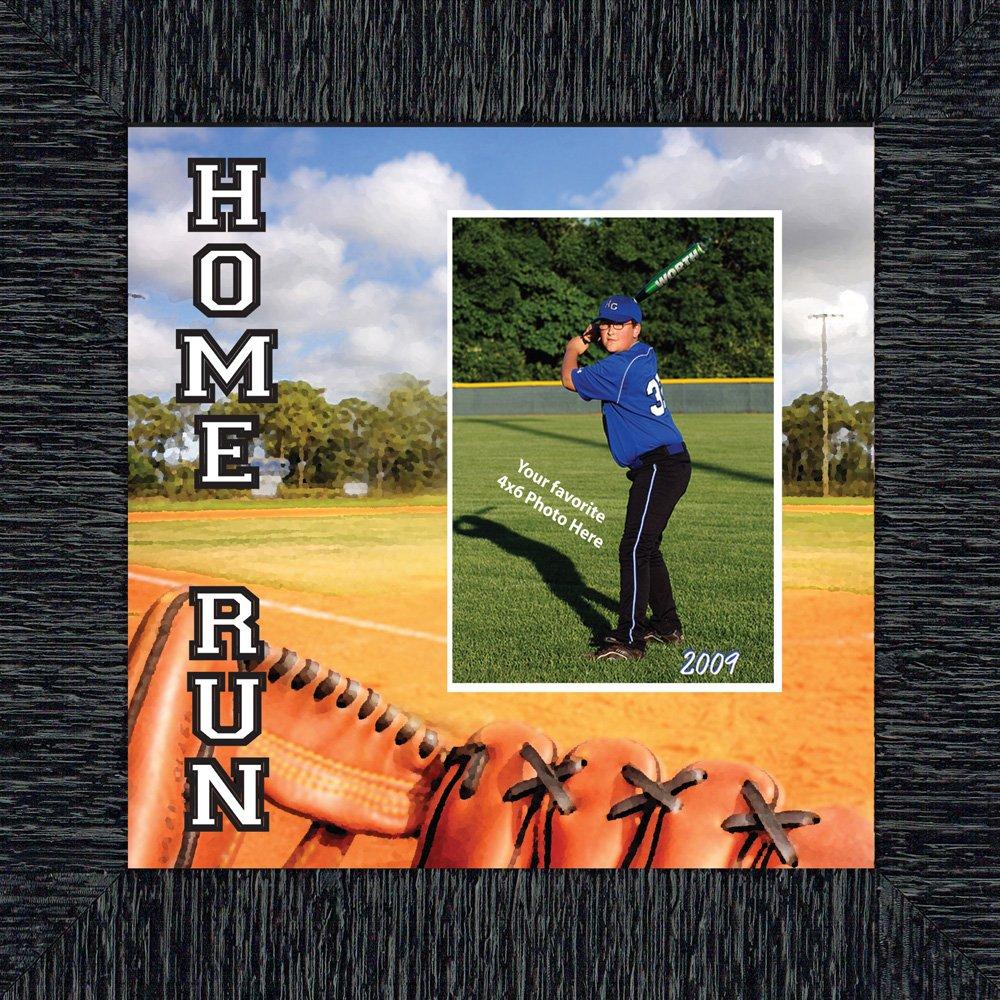 Baseball Home Run, Rahmen, 10 x 10 9713, Polyurethan, anthrazit ...