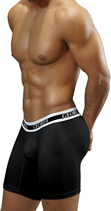 Diane & Geordi Boxers Colombianos Geordi 5175 Mens Long Boxer Briefs Maximum Comfort Underwear Black XL at Amazon Mens Clothing store: