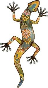"Deco 79 Metal Lizard, 32 by 15"""