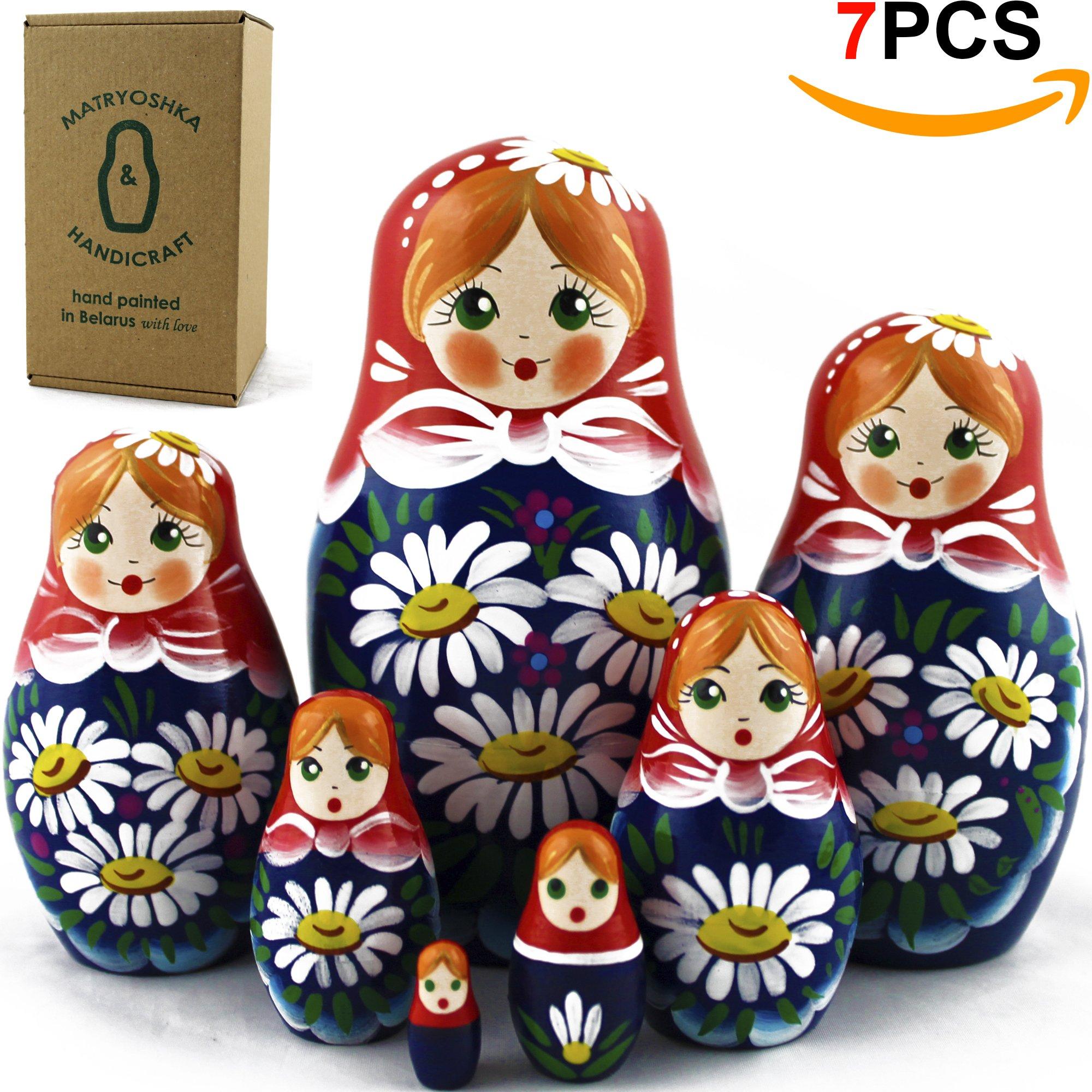 Nesting Dolls - Matryoshka Matrioskas Babushka Matruska Russian 7 Nesting Dolls for Kids - Matryoshka Russian Nesting Doll