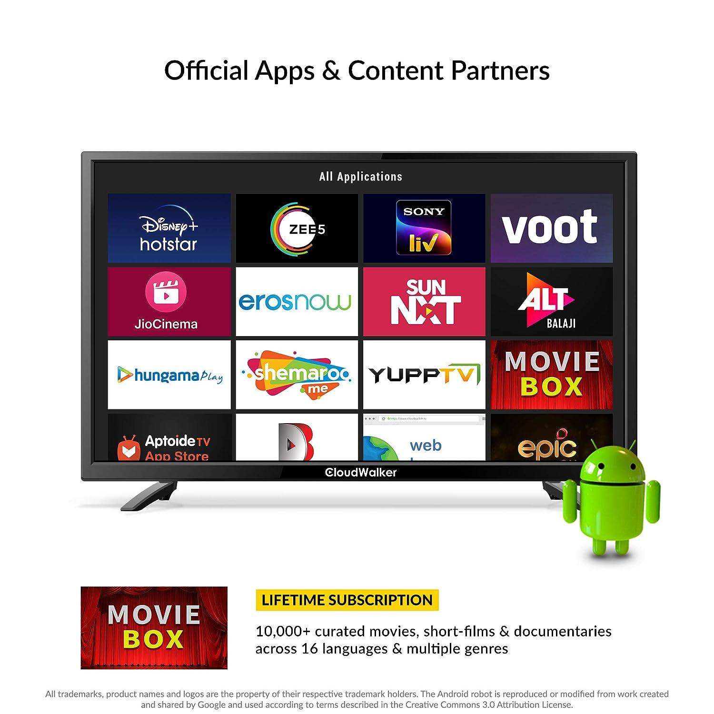 CloudWalker 80 cm HD Ready Smart LED TV Cloud X3: Amazon.in: Electronics