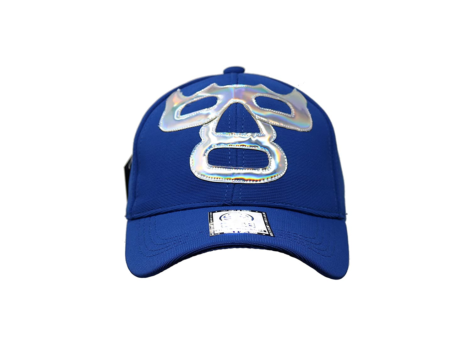Blue Demon Lucha Libre Adult Unisex Stretch Fit Hat Wrestling at Amazon Mens Clothing store: