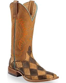 01aa8368cc28 Amazon.com  Ferrini Men s Ostrich Patchwork Exotic Western Boot Wide ...