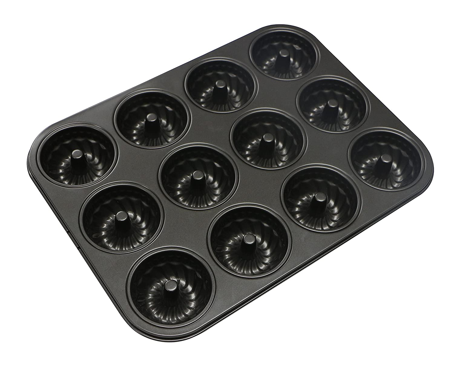 Webake 12 Mini Bundt Cake Tin for Muffins Cupcake Cases, Bronnies Cake Pudding NON Stick Steel Cooking ø6.8 cm