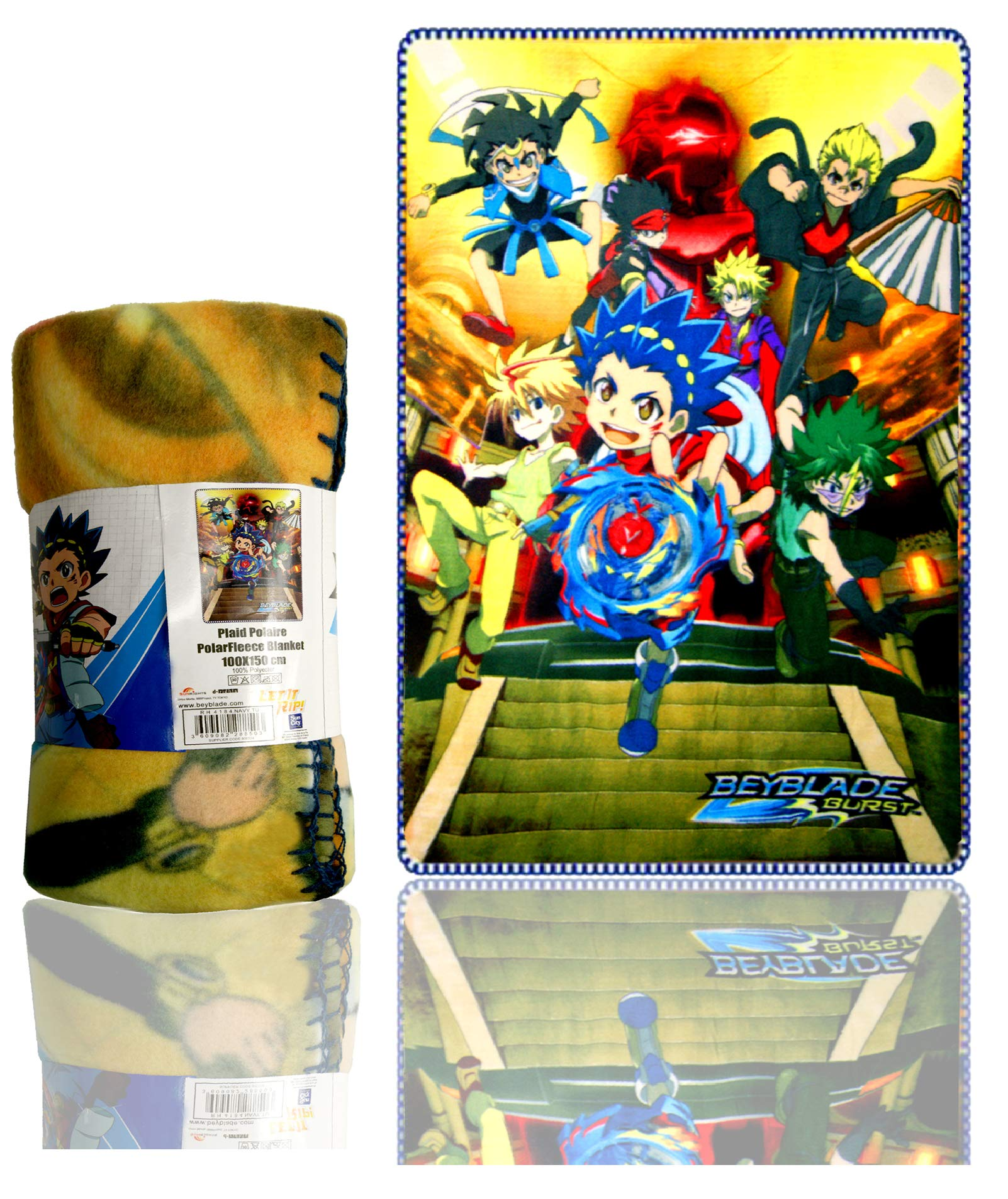 A_Beyblade Blanket,Children Blanket Sublimation Polar Fleece,Official Licenced by Bey-Blade