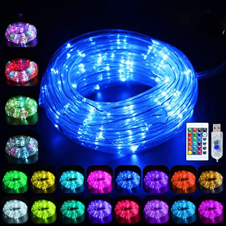100 LED Strip Rope Light 33ft Tube String Xmas Tree Party Decoration Lights New
