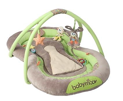 Babymoov A105203 - Nido de actividades con contorno acolchado, color verde y marrón