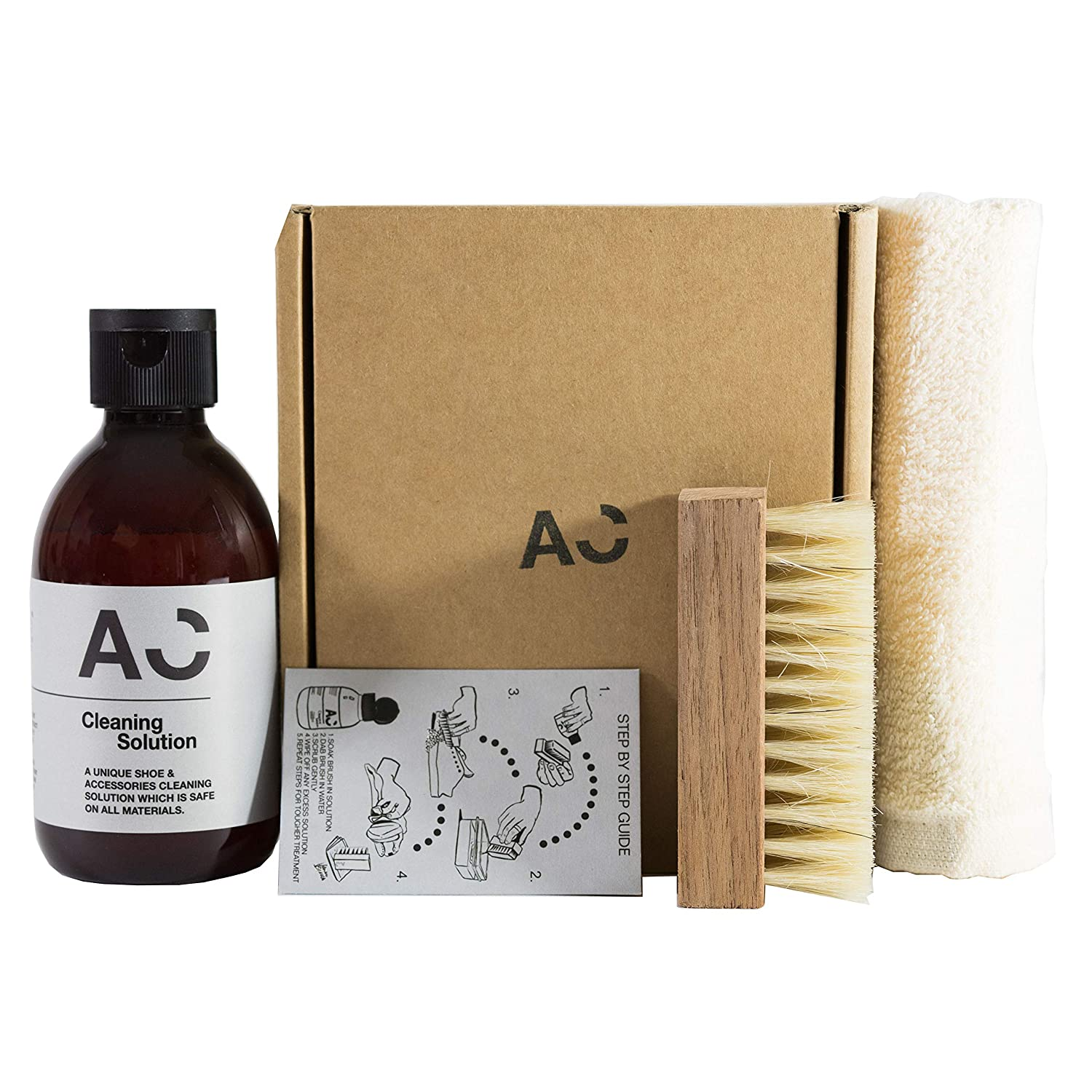 Shoe and Suede Cleaner Kit - 250ml Premium Shoe Cleaning Solution With Premium Brush & Cleaning Towel - Shoe Cleaner For Trainers, Leather, Suede, Nubuck, Canvas & More!