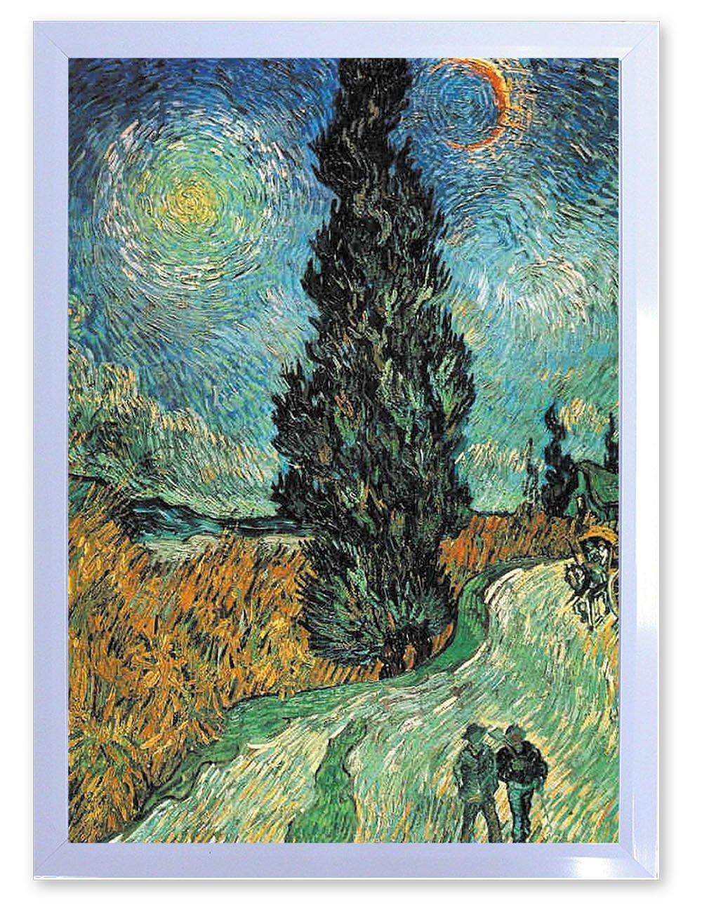 【DXポスター】フィンセントファンコッホのアートポスター フレーム付きVincent Willem van GoghP-A2-FIN-GOGH-0009-bk P-A2-FIN-GOGH-0009-bk B073SD3TWZ A2サイズ(59.4cm×42cm)+ブラックフレーム A2サイズ(59.4cm×42cm)+ブラックフレーム