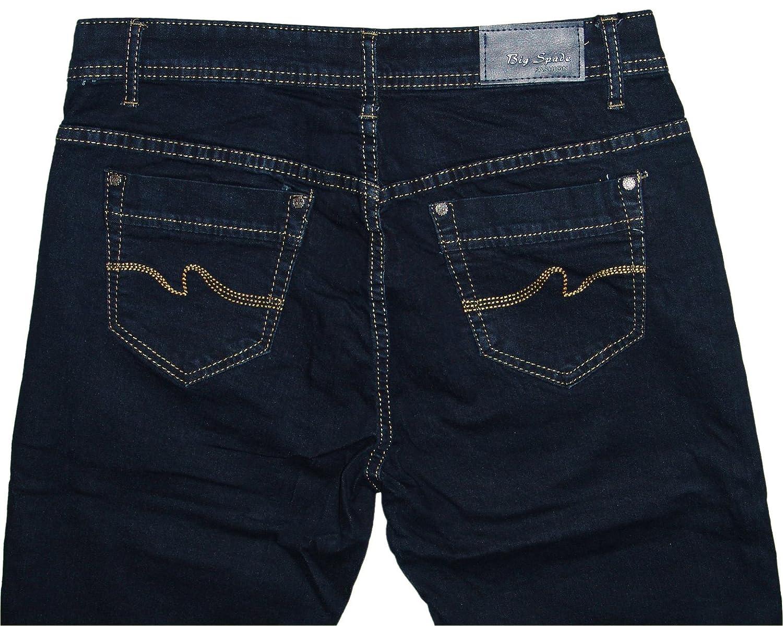 B.S Jeans b.s Mujer Stretch - Pantalones Vaqueros b6084 Azul ...