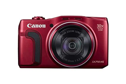 Canon PowerShot SX710 HS Digital Camera (Red) - International Version (No Warranty) Digital Cameras at amazon