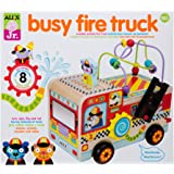 ALEX Jr. Busy Fire Truck Wooden Activity Center