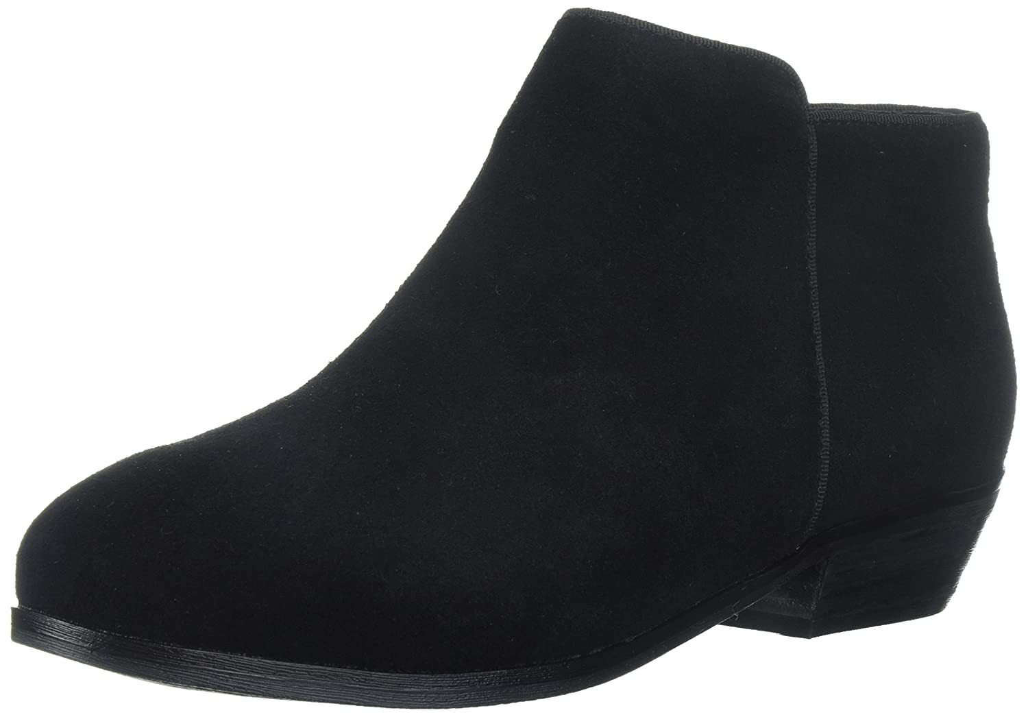 SoftWalk Women's Rocklin Loafer Flat, Black Suede, 8.0 2W US B00HQNG800 6.5 N US|Black Suede