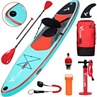 """Freein Stand Up Paddle Board Kayak SUP Inflatable Stand up Paddle Board SUP 10'/10'6""""x31 x6, 2 Blades Paddle, Dual…"""
