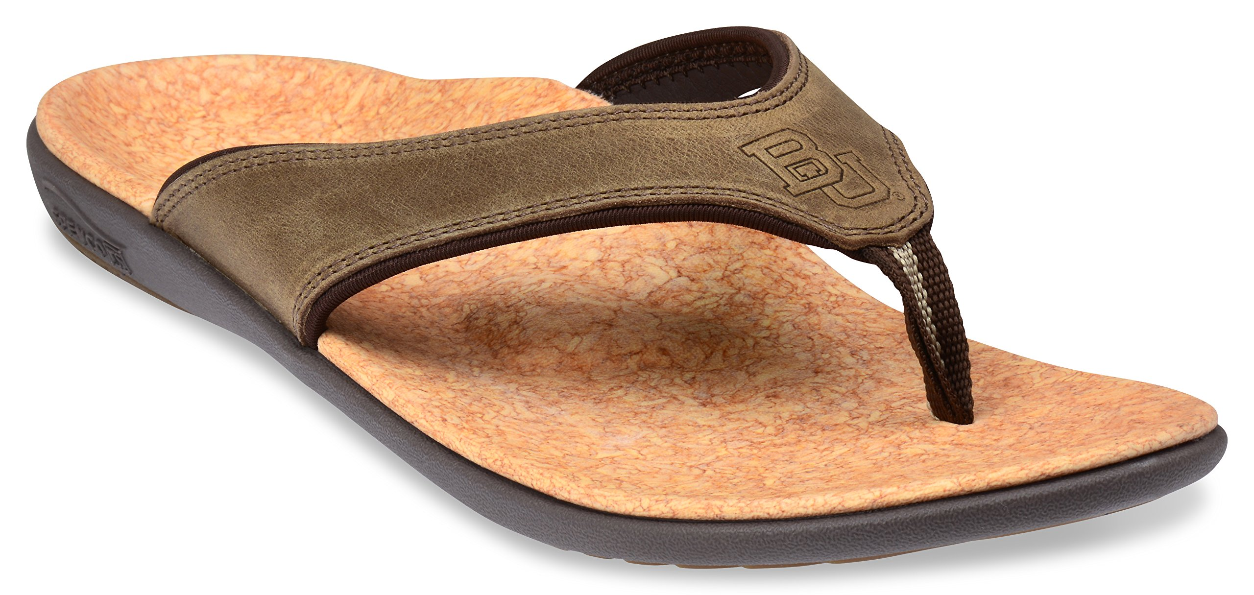 Spenco Men's Yumi Leather Sandal (10, Saddle Brown Leather)